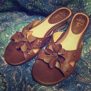 "Brown 2"" Wedge Sandals by Lifestride"